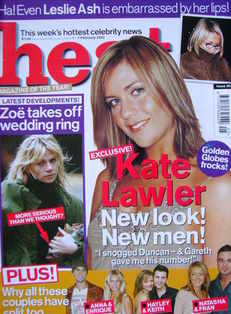 <!--2003-02-01-->Heat magazine - Kate Lawler cover (1-7 February 2003 - Iss