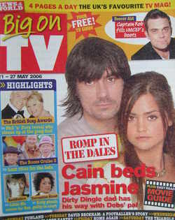 Big On TV magazine - 21-27 May 2006 - Jeff Hordley and Jenna-Louise Coleman cover
