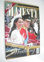 <!--2011-05-->Majesty magazine - Prince William and Kate Middleton cover (May 2011)