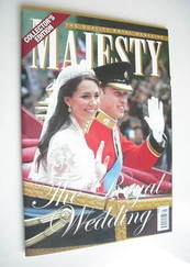 <!--2011-05-->Majesty magazine - Prince William and Kate Middleton cover (M