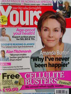 Yours magazine - Amanda Burton cover (31 May - 13 June 2011)