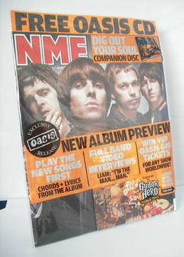 <!--2008-09-->NME magazine - Oasis cover & CD (September 2008)