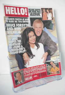 <!--1998-03-21-->Hello! magazine - Bruce Forsyth and Wilnelia cover (21 Mar