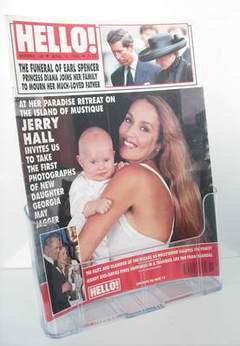 <!--1992-04-11-->Hello! magazine - Jerry Hall cover (11 April 1992 - Issue