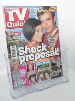 TV Quick magazine - Simon Gregson and Kym Marsh cover (24 February - 2 March 2007)