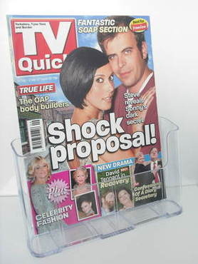 TV Quick magazine - Simon Gregson and Kym Marsh cover (24 February - 2 Marc