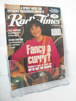 <!--1995-03-04-->Radio Times magazine - Madhur Jaffrey cover (4-10 March 19