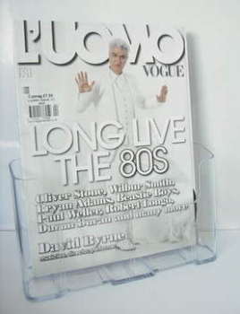 <!--2011-04-->L'Uomo Vogue magazine - April 2011 - David Byrne cover