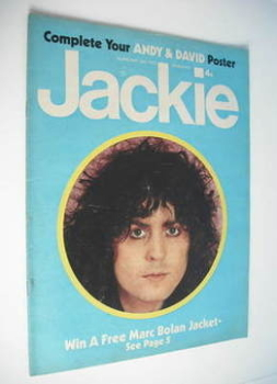Jackie magazine - 26 May 1973 (Issue 490 - Marc Bolan cover)