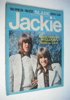 Jackie magazine - 12 May 1973 (Issue 488 - David and Andy Williams cover)