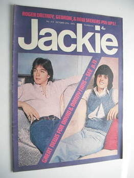 Jackie magazine - 27 October 1973 (Issue 512 - David Cassidy and Donny Osmond cover)