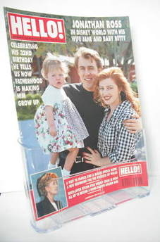<!--1992-11-28-->Hello! magazine - Jonathan Ross and Jane and baby Betty co