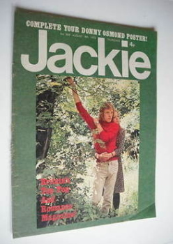 Jackie magazine - 18 August 1973 (Issue 502)