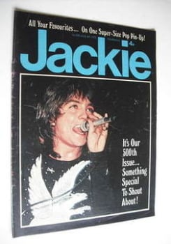 Jackie magazine - 4 August 1973 (Issue 500 - David Cassidy cover)
