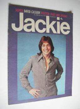 Jackie magazine - 21 July 1973 (Issue 498 - David Cassidy cover)