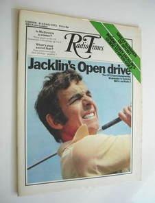 Radio Times magazine - Tony Jacklin cover (8-14 July 1972)