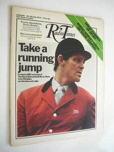 <!--1972-07-22-->Radio Times magazine - Harvey Smith cover (22-28 July 1972)