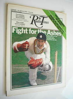 Radio Times magazine - Alan Knott cover (10-16 June 1972)