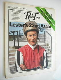 <!--1972-06-17-->Radio Times magazine - Lester Piggott cover (17-23 June 19