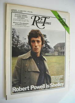 <!--1972-07-01-->Radio Times magazine - Robert Powell cover (1-7 July 1972)