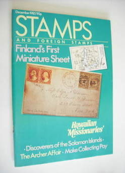 Stamps And Foreign Stamps magazine - December 1985