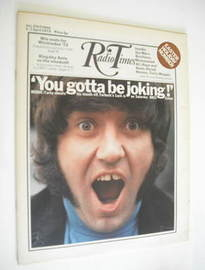 <!--1972-04-01-->Radio Times magazine - Jimmy Tarbuck cover (1-7 April 1972)