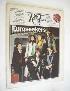 <!--1972-03-25-->Radio Times magazine - The New Seekers cover (25-31 March 1972)