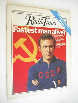 <!--1972-08-26-->Radio Times magazine - Valeri Borzov cover (26 August - 1
