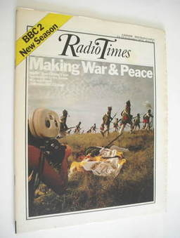 <!--1972-09-23-->Radio Times magazine - War and Peace cover (23-29 Septembe