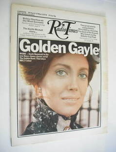 <!--1972-04-29-->Radio Times magazine - Gayle Hunnicutt cover (29 April - 5 May 1972)