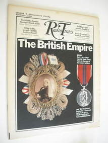 <!--1972-01-08-->Radio Times magazine - The British Empire cover (8-14 January 1972)