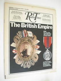 Radio Times magazine - The British Empire cover (8-14 January 1972)