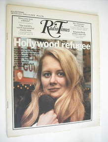 Radio Times magazine - Shirley Knight cover (26 February - 3 March 1972)