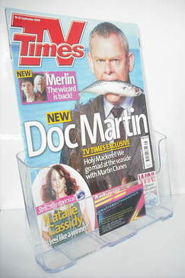 <!--2009-09-19-->TV Times magazine - Martin Clunes cover (19-25 September 2