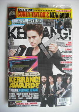 <!--2011-06-25-->Kerrang magazine - Jared Leto cover (25 June 2011 - Issue