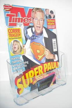 <!--2007-09-15-->TV Times magazine - Paul O'Grady cover (15-21 September 20