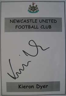 Kieron Dyer autograph
