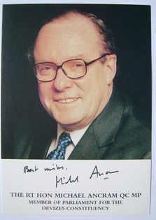 Michael Ancram autograph