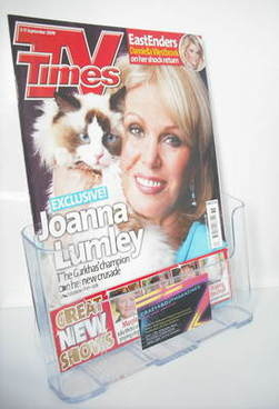 <!--2009-09-05-->TV Times magazine - Joanna Lumley cover (5-11 September 20