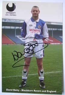 David Batty autograph