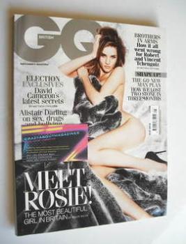 British GQ magazine - May 2010 - Rosie Huntington-Whiteley