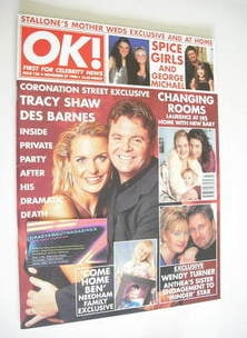 <!--1998-11-27-->OK! magazine - Tracy Shaw and Phil Middlemiss cover (27 No