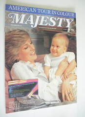 Majesty magazine - Princess Diana and Prince William cover (April 1983 - Volume 3 No 12)
