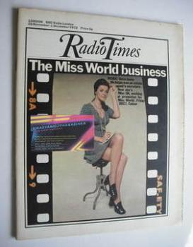 Radio Times magazine - Jenny McAdam cover (25 November - 1 December 1972)