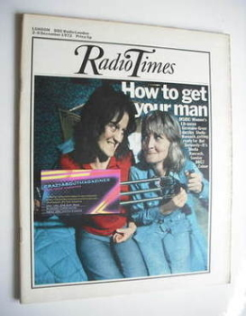 Radio Times magazine - Germaine Greer and Sheila Hancock cover (2-8 December 1972)