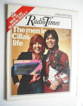 Radio Times magazine - Cilla Black and Cliff Richard cover (13-19 January 1973)