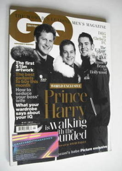 British GQ magazine - May 2011 - Prince Harry Walking With The Wounded cover