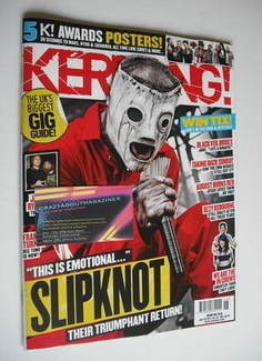 <!--2011-07-02-->Kerrang magazine - Slipknot cover (2 July 2011 - Issue 137