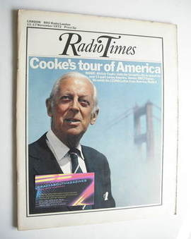 <!--1972-11-11-->Radio Times magazine - Alistair Cooke cover (11-17 Novembe