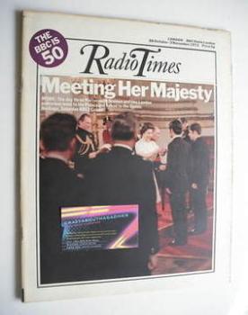 Radio Times magazine - Queen Elizabeth II cover (28 October - 3 November 1972)